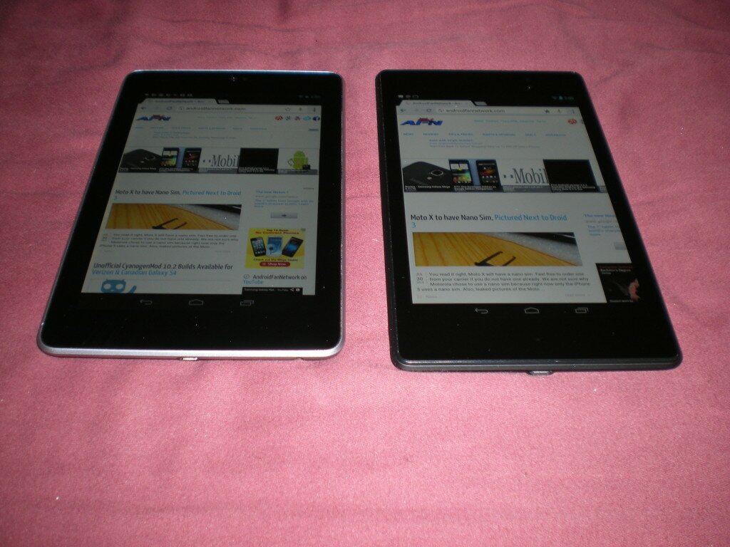 left 2012 Nexus 7, right 2013 Nexus 7