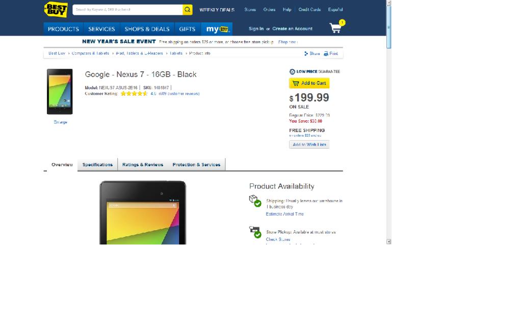 Best Buy N7 Sale