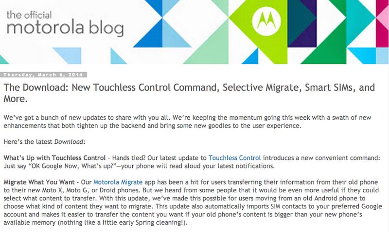 Motorola Blog