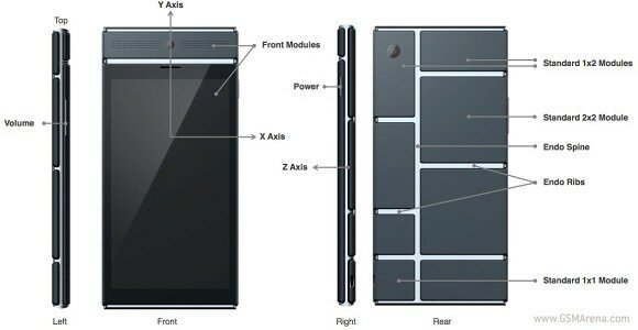 project ara gsm arena front back side