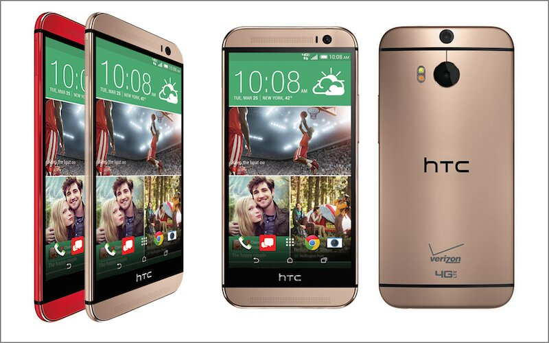 HTC One M8 Verizon Gold and Red