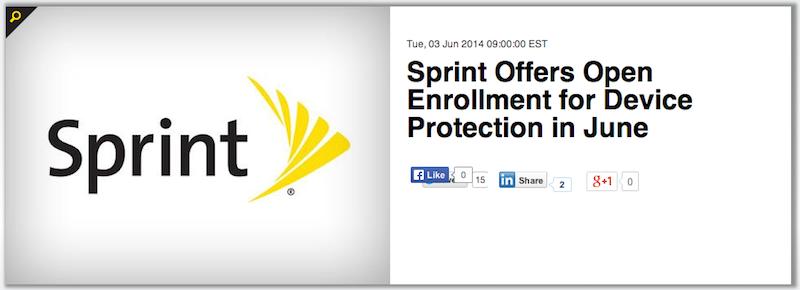 Sprint Open Enrollment 2014